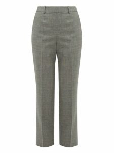 Loewe - Straight Leg Wool Trousers - Womens - Grey