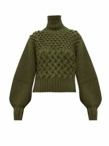 Apiece Apart - Quercia Cable Knit Alpaca Blend Sweater - Womens - Green
