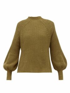 Apiece Apart - Sequia Ribbed Cotton-blend Sweater - Womens - Khaki
