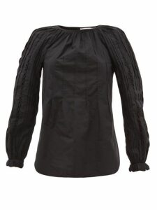 See By Chloé - Pintucked Cotton Blouse - Womens - Black