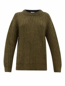 See By Chloé - Colour-block Dropped-sleeve Sweater - Womens - Khaki Multi