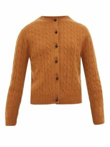 Erdem - Jayelle Cable-knit Cashmere Cardigan - Womens - Camel