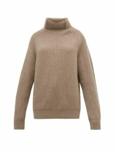 Haider Ackermann - Clark Funnel-neck Cashmere Sweater - Womens - Camel