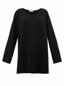 The Row - Damian Scoop-neck Wool-blend Sweater - Womens - Black