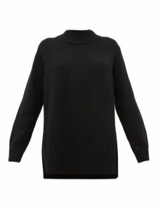 The Row - Edmund Mock Neck Cashmere Sweater - Womens - Black