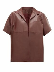 Dodo Bar Or - Yulanda Leather Shirt - Womens - Burgundy