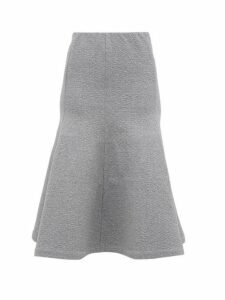 Vika Gazinskaya - Trumpet-hem Cotton-blend Jersey Midi Skirt - Womens - Grey