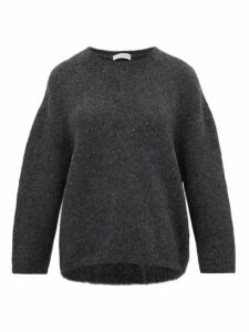 Vika Gazinskaya - Oversized Bouclé Sweater - Womens - Dark Grey