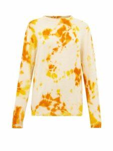 The Elder Statesman - Tie-dye Cashmere Sweater - Womens - Orange Multi