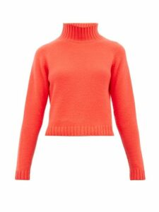 The Elder Statesman - Highland Cropped Cashmere Sweater - Womens - Red