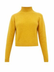 The Elder Statesman - Highland Cropped Cashmere Sweater - Womens - Yellow