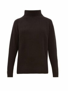The Elder Statesman - Highland High Neck Cashmere Sweater - Womens - Black