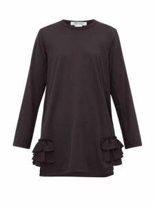 Comme Des Garçons Comme Des Garçons - Ruffle-trimmed Longline Top - Womens - Black