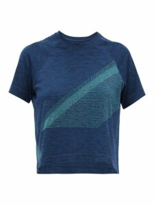 Lndr - Comet Cropped Seamless Jersey T-shirt - Womens - Blue