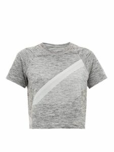 Lndr - Comet Cropped Seamless Jersey T-shirt - Womens - Grey