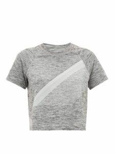 Lndr - Comet Cropped Seamless Jersey T-shirt - Womens - Grey