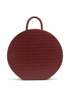 Sparrows Weave - Large Crocodile-effect Leather Handbag - Womens - Burgundy
