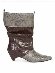 Snake Print Slouchy Boots