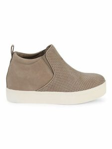 Sallie Hidden Wedge Suede Sneakers
