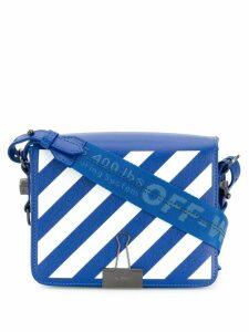 Off-White diagonal stripe crossbody bag - Blue
