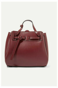 Loewe - Lazo Mini Leather Tote - Burgundy