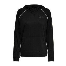 Aida Slip-On Hoodie with Pockets and Logo