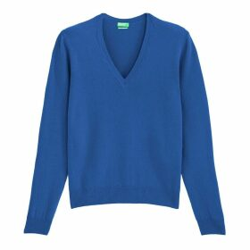 Wool Jumper with V-Neck