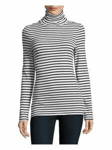 Striped Turtleneck Pullover