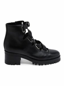 Leather Combat Booties