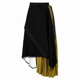 Proenza Schouler Panelled Pleated Wrap Skirt