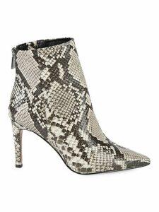 Raine Snakeskin-Embossed Ankle Boots