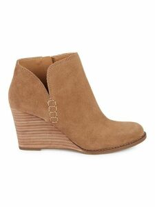 Yimmie Suede Wedge Booties