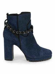 Lark Chain Suede Booties