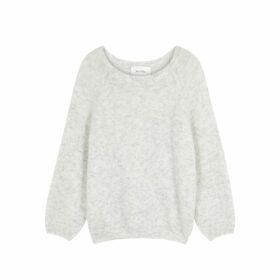 American Vintage Woxilen Grey Mélange Fine-knit Jumper