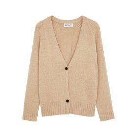 Replay Camel Knitted Cardigan