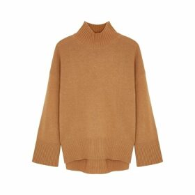 Frame Denim Brown Knitted Cashmere Jumper
