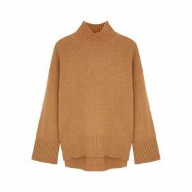 Frame Denim Brown Knitted Cashmere Jumper