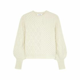 Frame Denim Off-white Cable-knit Wool-blend Jumper