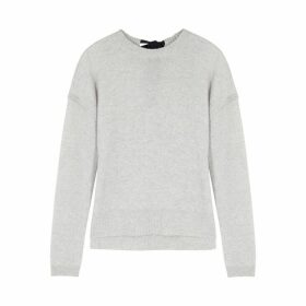 Duffy Grey Fine-knit Mélange Cashmere Jumper