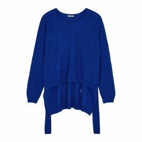 Crea Concept Blue Wool-blend Jumper