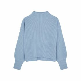 A.L.C. Helena Light Blue Wool-blend Jumper