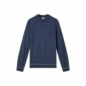 Jigsaw Jones Mock Neck Merino Knit Jumper
