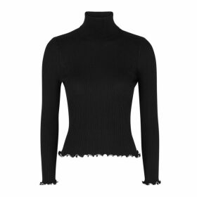 Alexander Wang Bead-embellished Ribbed Cotton Jumper