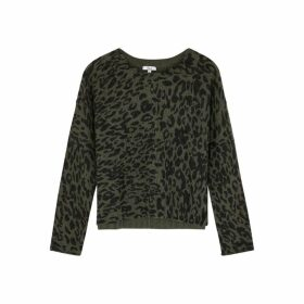 Rails Joanna Leopard-print Wool-blend Jumper