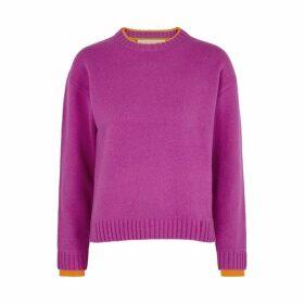 Victoria, Victoria Beckham Fuchsia Wool Jumper