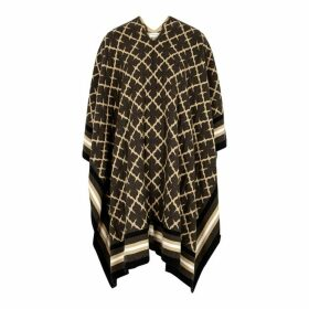 BY MALENE BIRGER K Bym Tonal Brown Wool-blend Poncho