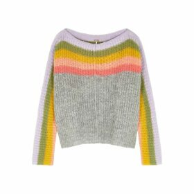 Free People See The Rainbow Multicoloured Alpaca-blend Jumper