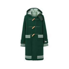 Burberry Stripe Detail Double-faced Wool Duffle Coat