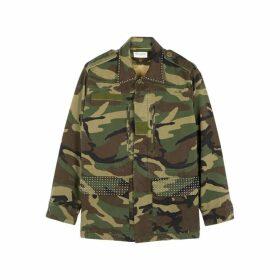 Saint Laurent Camouflage-print Cotton Jacket