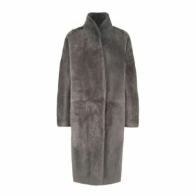 Gushlow & Cole Stand Collar Shearling Coat